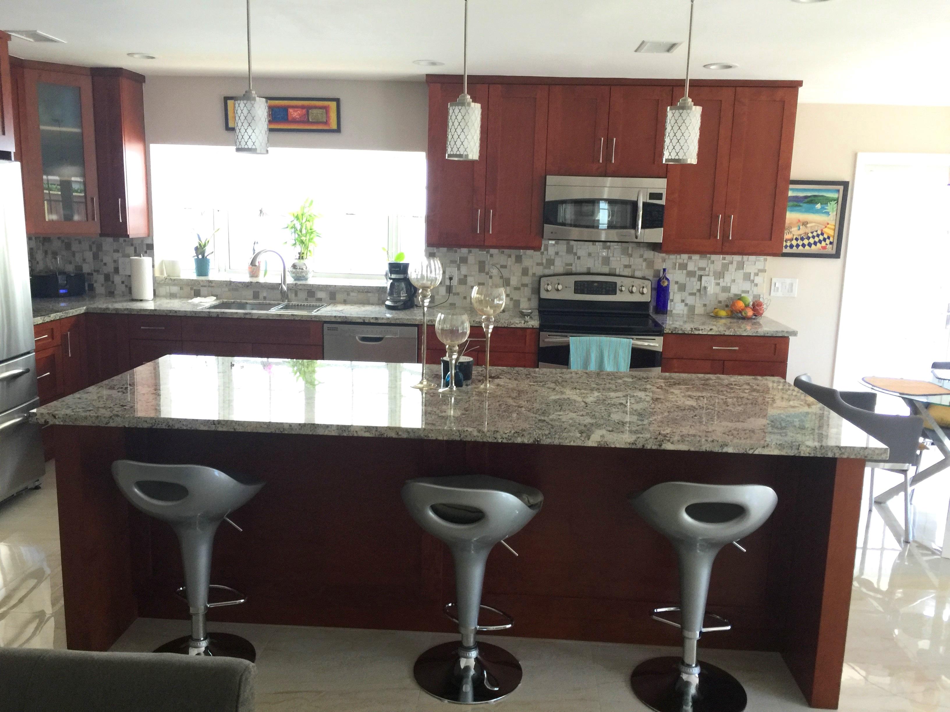 All Wood Kitchen Cabinet Installation