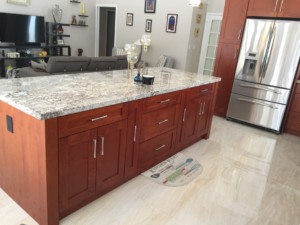 All Wood Kitchen Cabinet Installation - Center Island - Universal Cabinets and Closets
